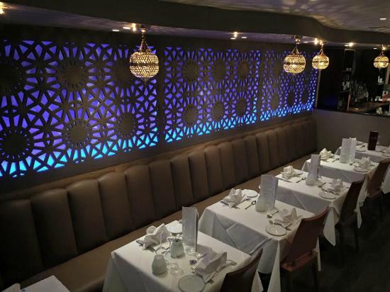 New interior with beautiful lights - Raj Lodge October 2015