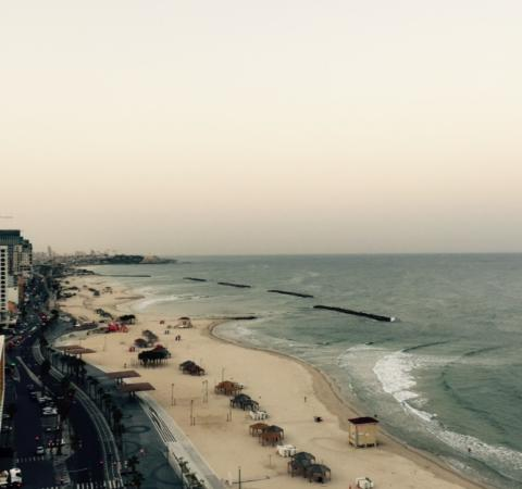 Sheraton Tel Aviv Hotel: View from Room facing the water