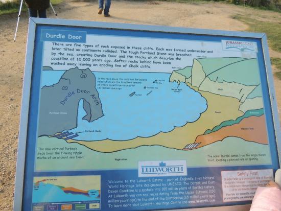 Lulworth Cove and Durdle Door Informative map & Informative map - Picture of Lulworth Cove and Durdle Door West ...