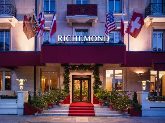 Armleder suite lake view picture of le richemond for Hotels geneve