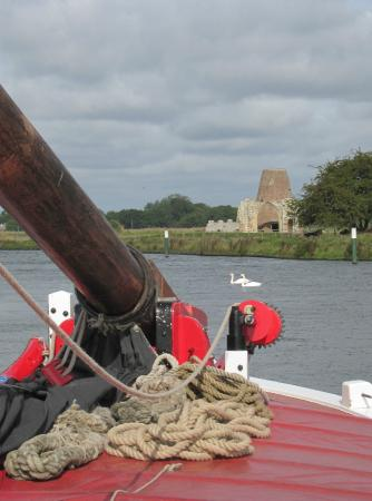 Ludham, UK: St Ben et's Abbey from aboard Albion