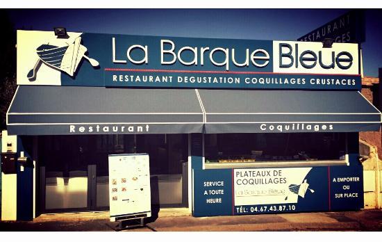 Restaurant La Barque Bleue: nouvelle façade