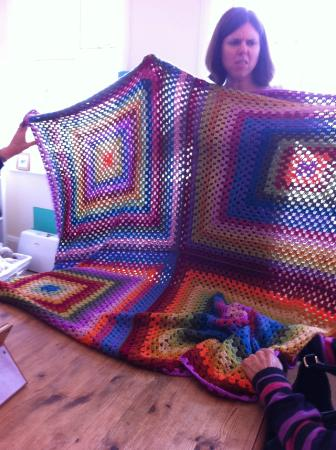 Giant Granny Square Blanket Picture Of Get Hooked On Crochet