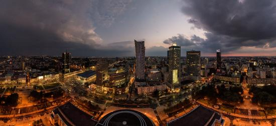 Warszawa, Polen: Amazing view from the Palace of Culture and Science