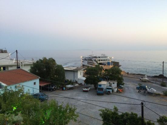 Agia Roumeli, Grækenland: Vista dalla camera, ultimo piano