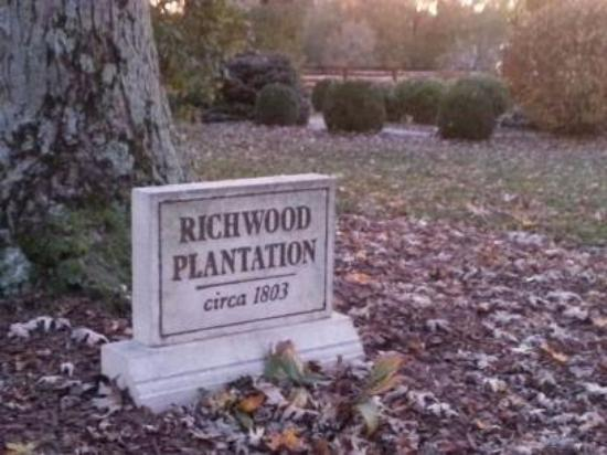 Richwood on the River: Plantation marker