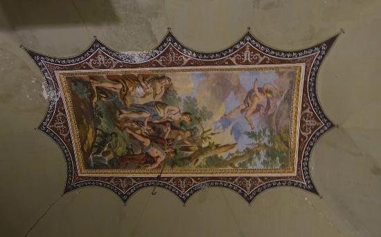 Villa Aragona Cuto: Un plafond de la villa Aragona