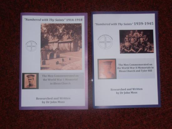 Church of St Cosmus & St Damian: Two books on those killed in action