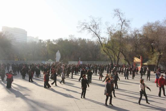 People's Park of Urumqi: Центральная танцплощадка