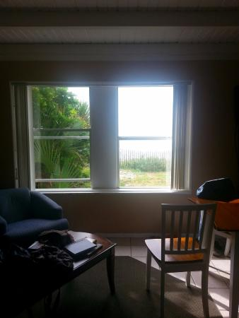 Sea Oats Motel Beach Cottage Living Area And View