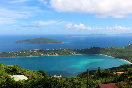 Overlooking Magens Bay From Mountain Top
