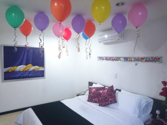 Hotel Plaza Granada: decoracion de cumpleaños