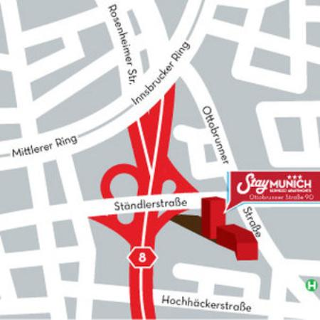 StayMunich Serviced Apartments : Map