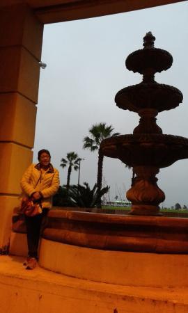 Bayfront Inn Corpus Christi: La fuente se encuentra enfrente de sus oficinas, sucia muy sucia