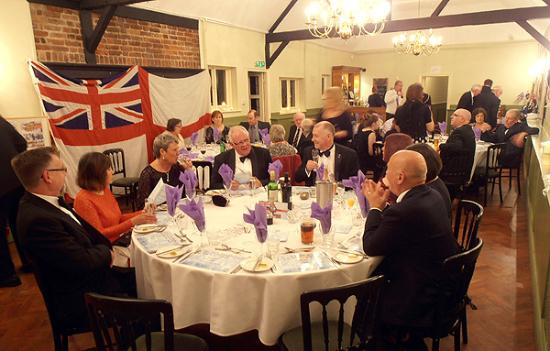Godmanchester, UK: Members seated for the evening meal