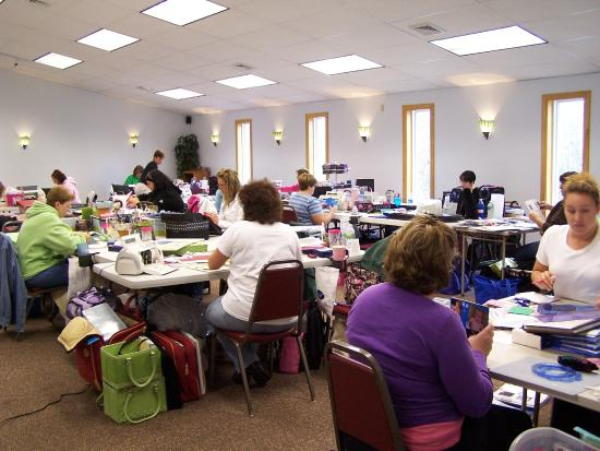 Woodstock, ME: Crafters love our conference space