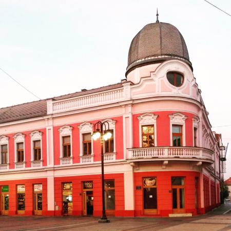 Brcko, Bosnia and Herzegovina: Austro-Hungarian architecture at Youth square