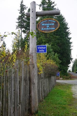 Mansons Landing, Canada: museum signage