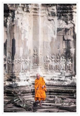 A monk at Angkor Wat - Picture of Mony Tour Guide Private