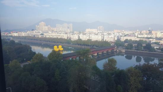 Wuyi County, China: View from 11th floor