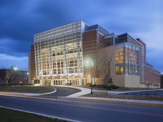 Shippensburg, PA: Luhrs Center exterior, night view