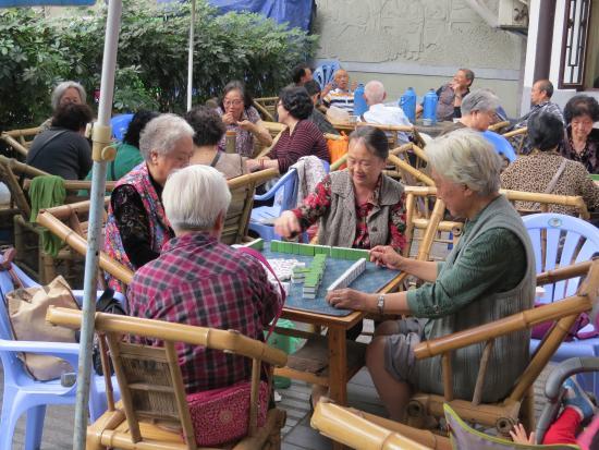 Chengdu Renmin Park : Mahjong in the park