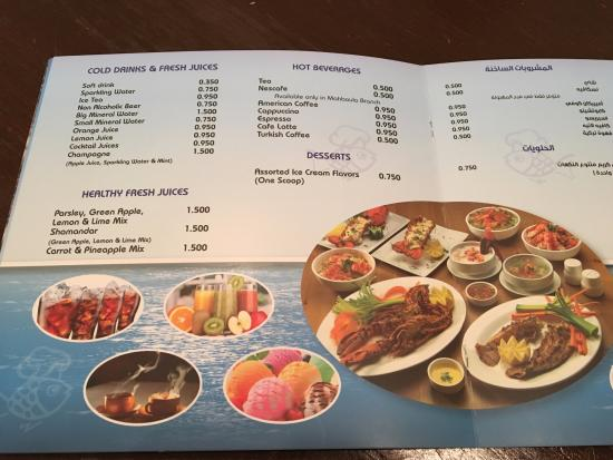 Price list picture of the fish market restaurant for City fish market menu