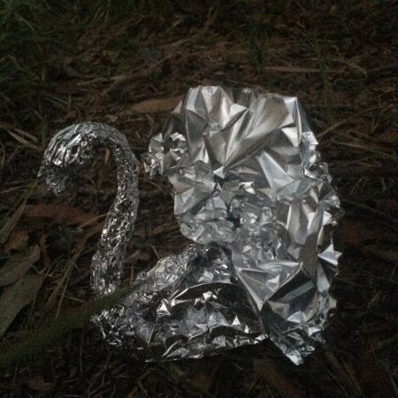 Get your leftovers in an aluminum foil peacock - Picture of Earth 'n' Sea Amazing Pizza & Pasta ...