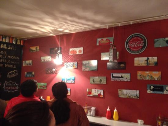 Funny Comics Decor The Restaurant Picture Of La Vineta Gourmet Impressive Interior Design Fast Food Decor