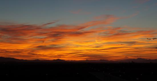Fuente Alamo, Espagne : Glorious October Sunset