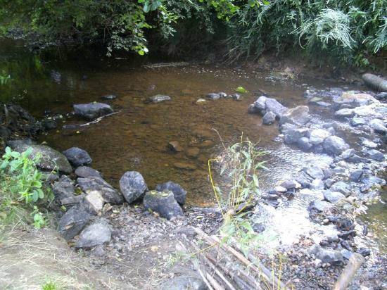 Camping La Vallée du Ninian : La rivière Le Ninian derrière le Camping