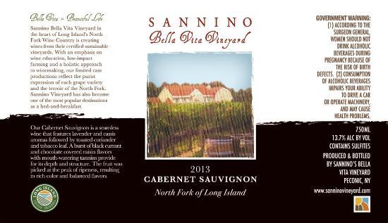 Peconic, NY: Sannino Wine Label