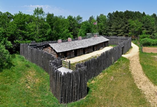 Pine City, MN: Visit the reconstructed fur trading post