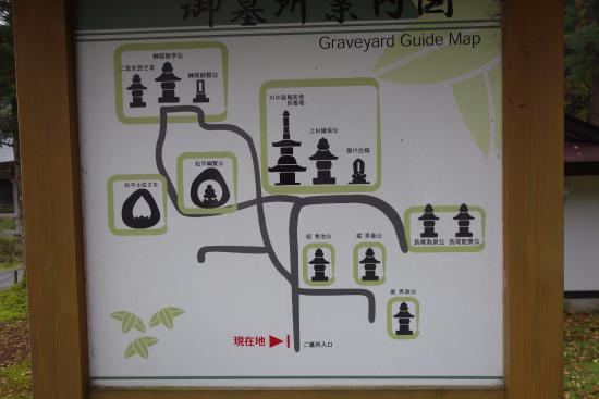 Rinsen-ji Temple : 墓地の地図