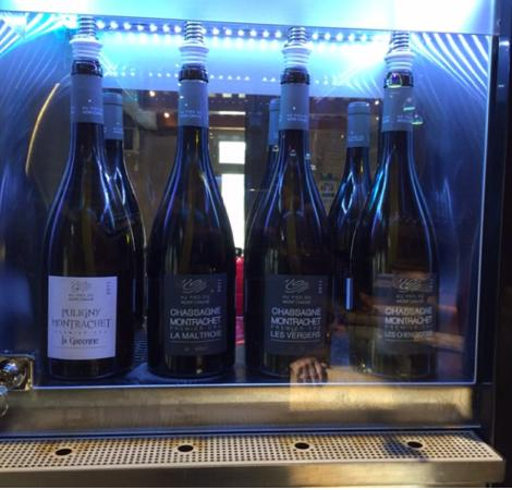 Chassagne-Montrachet, France : A view of our tasted wines...