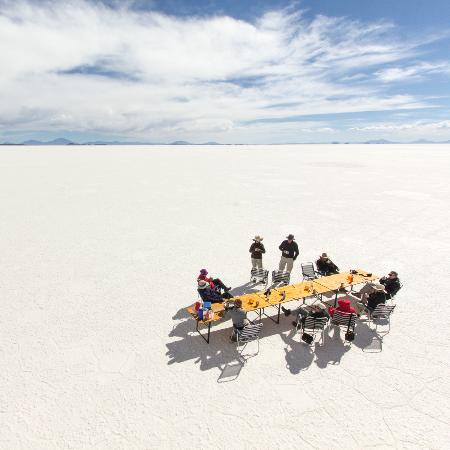 Uyuni, Bolivia: Lunch-time