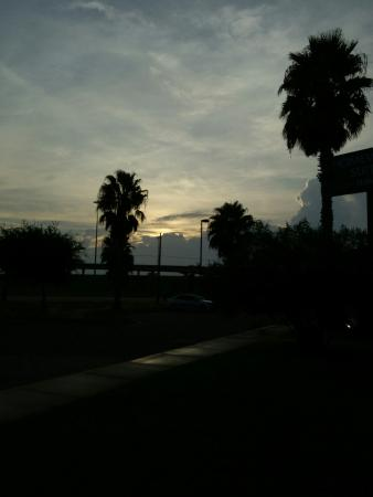 Homewood Suites by Hilton Corpus Christi: Morning dog-walk, sunrise from the hotel grounds