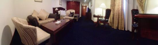 York International Hotel: Panoramic view of room 313