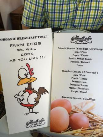 Kirazli, Turchia: Frühstückskarte