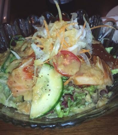 Daiki Japanese Restaurant: salad with sashimi