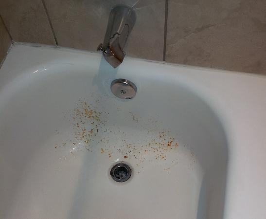 Days Inn & Suites - Sea World/Airport: Rusty tub