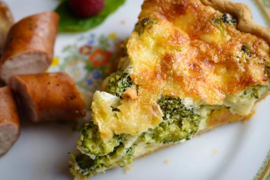 Delavan, WI: Homemade broccoli cheddar quiche
