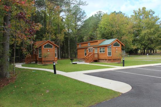 Kings Dominion Camp Wilderness Campground: These two cabins are away from the others and could work perfectly for a large family.