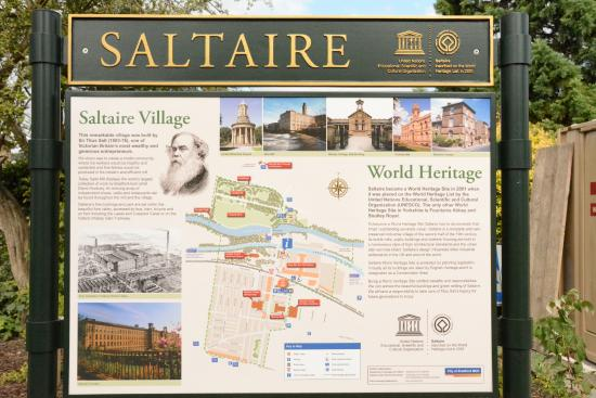 Map of Saltaire site Picture of Saltaire Village Shipley