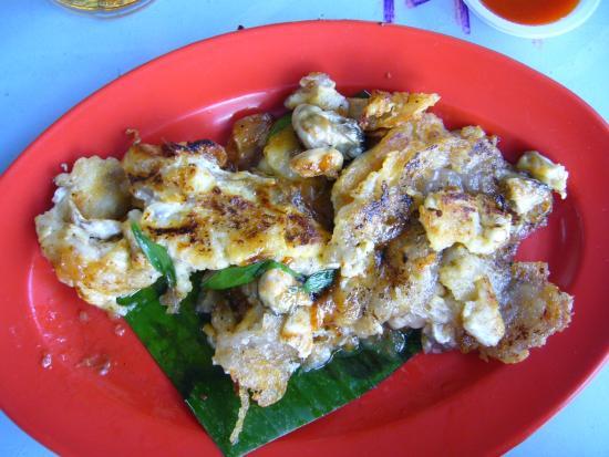 Tanjung Tokong, Малайзия: 好物のオイスター・オムレツ