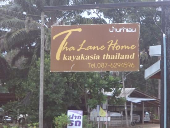Thalane Home Bed and Breakfast: Sign