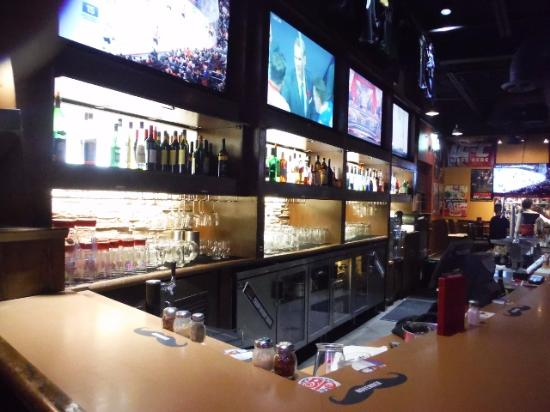 Marvelous Boston Pizza Bar. Boston Pizza Kitchen Area