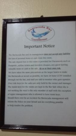 Barracuda Guesthouse : room