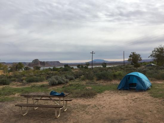 Wahweap Campground: tent site with lake views