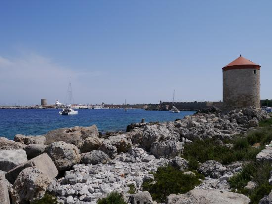 Windmolens - Picture of Mandraki Harbour, Rhodes Town ...